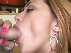 Gorgeous chick Carmen gets pussy rammed