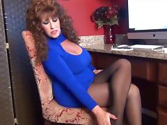 Samantha Legs is your Office Tease in pantyhose.