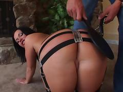 Katja Kassin allows a guy to spank her butt and drill it doggystyle porn tube video