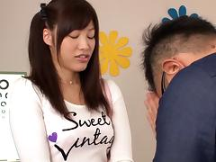Nasty college girl Miki Sunohara plays dirty games with a horny dude