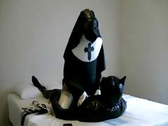 Nun and Puppy Play tube porn video