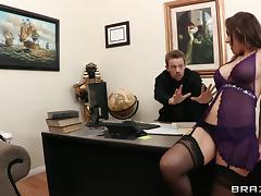 Office, Ass, Big Tits, Creampie, Lingerie, MILF