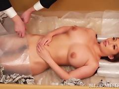 Cowgirl with big tits moaning as her pussy is licked then banged hardcore missionary