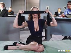 Blindfolded, Big Tits, Blindfolded, Blonde, MILF, Office