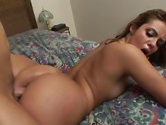 Vivacious porn star with a nice ass enjoying a hardcore cowgirl style fuck
