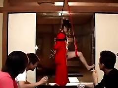 Shibari Tied And Toyed Hairy Asian