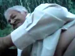 Grandpa outdoor with a boy porn tube video