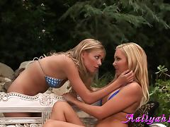 Aaliyah Love & her GF don't miss a chance to taste each other's cunts porn tube video