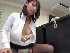 CFNM, CFNM, Japanese, Latex, Office, Pantyhose