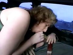 Chubby german MILF sucking and fucking in a car tube porn video