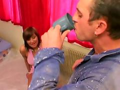 Cock-hungry brunette seduces and fucks a house painter tube porn video