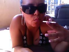 Hot Curvy Cougar POV Smoking BJ