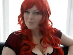 Geile Rothaarige gibt Tipps fuer Telefon & Live Cam Sex