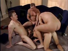 Hottie called Envy gets her pussy & asshole smashed in gangbang video