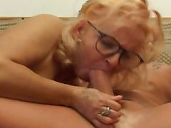 Mom and Boy, Amateur, Big Cock, Blonde, Fucking, Granny
