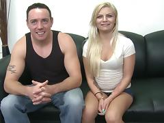 Alex Little peels off her tight shorts and backs up on his dick