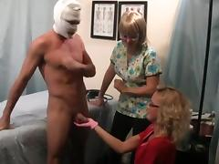 exam provides a prostate massage and cock milking WF tube porn video