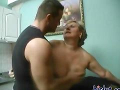 Granny loves to tame the wild stallion cock