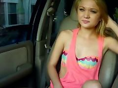 Standed petite slut rammed on back seat tube porn video