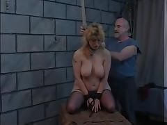 Blonde slut is released from trunk to have her pussy bound with ropes porn tube video