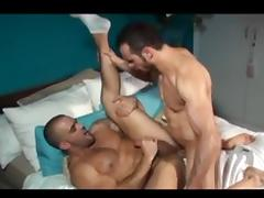 Toned gay hunks in cock slobbering and gay fucking fun tube porn video