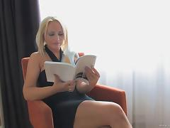 Amazing all-holes drilling scene with blonde milf Silvia Monti
