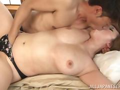 Flirtatious Japanese pornstar gets her pussy fingered then pounded hardcore