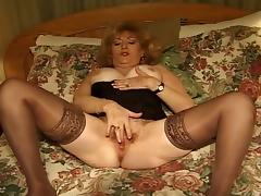 Big tits mature whore fucking hard at 50 with two huge cocks