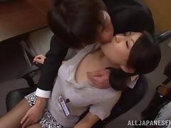 Arousing Japanese office lady gets hardcore rear fucking