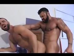Muscular gay bears fucking hard on the bed porn tube video