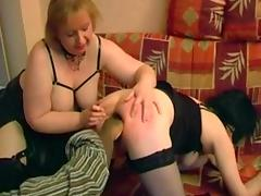 Fat French mature broad Annie in interracial group sex tube porn video