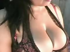 Curvy Latina Cleavage tease porn tube video