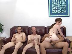 Jessie Parker is so horny she needs three guys at once to satisfy her
