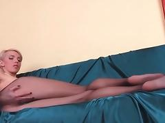 Slim chick with lengthy hose legs