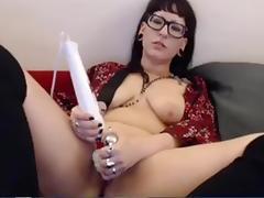 Sexy goth toys with hitachi