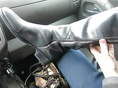 donald pliner OTK riding boots