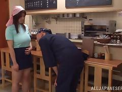 Rina Araki's wet and wild pussy gets slammed in a hard bang scene