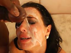 Veronica Avluv blowbang facial tube porn video