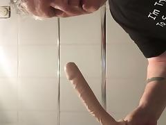 Grandpa deepthroats 10 inch dildo porn tube video