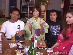 Sexy and lovely porn Japanese hotties treats cock a hot and nasty blowjob