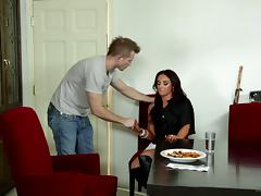 Erotic brunette pornstar having her pussy banged hardcore in a reality porn