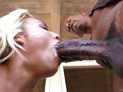 A hung black guy lays the pipe to a white girl Jessica Steele