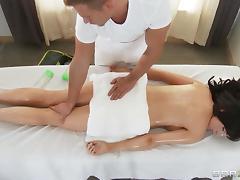 Hot Oiled Massage Gone Hardcore Doggystyle Pounding
