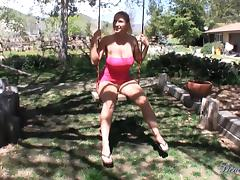 Devon Lee and Zoey Holloway suck a prick in the garden