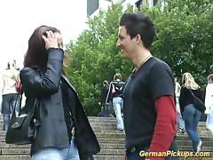 German whore in rough bonking