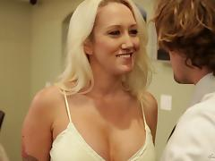 He rocks her world and makes her orgasm all over his cock