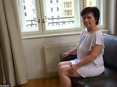Mature lesbian with big boobs enjoying a hardcore dildo fuck porn tube video