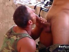 Hunky gay guy with a fantastic body enjoying a hardcore ass fuck
