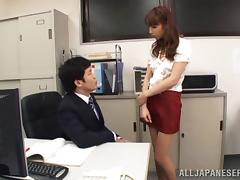Smutty Asian redhead with a hot ass gets fingered then screwed on a couch tube porn video