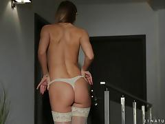 Sabrina Moore in naughty masturbation and nasty pussy fingering